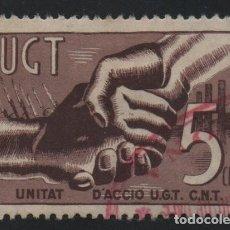 Sellos: VIÑETA, 5 CTS. --U.G.T. UNITAT D ACCIO U.G.T. C.N.T. VER FOTO . Lote 175568219