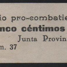 Sellos: 5 CTS -SUBSIDIO PRO COMBATIENTE- VER FOTO. Lote 175568607