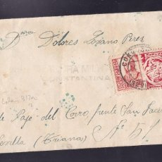 Sellos: F29-2-GUERRA CIVIL .CARTA CONSTANTINA (SEVILLA) 1937?. CENSURA Y LOCAL. Lote 175570350
