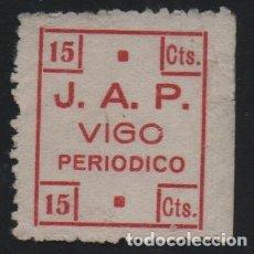 Sellos: VIÑETA. VIGO. 15 CTS.--J-A.P. --PERIODICO-- VER FOTO. Lote 175570513