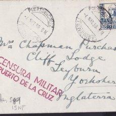 Timbres: HP6-19- GUERRA CIVIL .CARTA PUERTO DE LA CRUZ (TENERFE) -INGLATERRA 1939 . CENSURA . LUJO. Lote 175570644