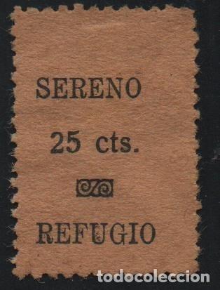 SERENO. 25 CTS.---- REFUGIO--- NO CATALOGADA, SUPER RARA, VER FOTO (Sellos - España - Guerra Civil - De 1.936 a 1.939 - Usados)