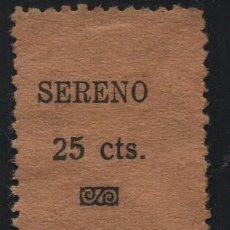 Sellos: SERENO. 25 CTS.---- REFUGIO--- NO CATALOGADA, SUPER RARA, VER FOTO. Lote 175571290
