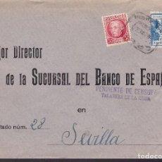Sellos: F29-3-GUERRA CIVIL .CARTA TALAVERA DE LA REINA (TOLEDO) 1937. PENDIENTE CENSURA Y CRUZADA FRIO, . Lote 175572353