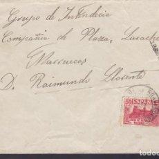 Timbres: HP1-17-GUERRA CIVIL . CARTA ROA DE DUERO (BURGOS)-LARACHE (MARRUECOS) 1937. CENSURA. Lote 175585095