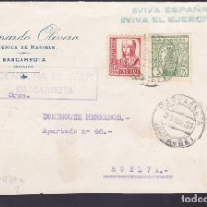 Sellos: F29-5-GUERRA CIVIL .FRONTAL BARCARROTA (BADAJOZ) 1937. LOCAL Y CENSURA . Lote 175586412