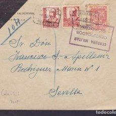 Sellos: F29-7-GUERRA CIVIL .CERTIFICADO MONTILLA (CÓRDOBA) 1937. CENSURA CERTIFICADOS CÓRDOBA Y LOCAL. Lote 175587883