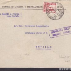 Sellos: F29-7-GUERRA CIVIL .CARTA PUEBLONUEVO DEL TERRIBLE (CÓRDOBA) 1938. LOCAL Y CENSURA . Lote 175588029