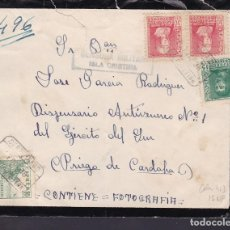 Sellos: F29-10-GUERRA CIVIL .CERTIFICADO ISLA CRISTINA (HUELVA) 1938. CENSURA Y LOCAL AYAMONTE. Lote 175591669