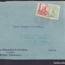 Sellos: F29-11-GUERRA CIVIL .FRONTAL FUENTE DE CANTOS (BADAJOZ) 1937. LOCAL Y CENSURA . Lote 175592829