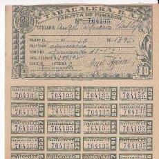 Sellos: F29-14- FISCALES TABACALERA. CARNET DE FUMADOR COMPLETO CON 36 CUPONES. PERFECTO. Lote 175689078