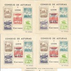 Sellos: ESPAÑA.CONSEJO DE ASTURIAS Y LEÓN.SERIE COMPLETA.NUEVOS SIN FIJASELLOS.VALOR FILABO 300 €. Lote 175812355