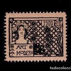 Sellos: VN3-46-4-5 VIÑETA CATALANISTA NACIONALISTAS SEPARATISTAS ART MODERN AÑO 1900 COLOR NEGRO. Lote 175871489