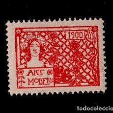Sellos: VN3-46-4-5 VIÑETA CATALANISTA NACIONALISTAS SEPARATISTAS ART MODERN AÑO 1900 COLOR ROJO. Lote 175871564