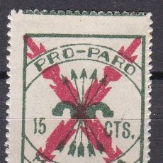 Sellos: VIÑETA DE 15 CTS DE PRO-PARO MALLORCA (GUERRA CIVIL) NUEVO SIN CHARNELA. Lote 176098849