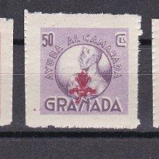 Sellos: LOTE DE 3 VIÑETAS DE AYUDA AL CAMARADA DE GRANADA (GUERRA CIVIL) NUEVO SIN CHARNELA. Lote 176103635