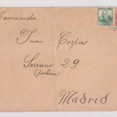Sellos: SOBRE. BAZA, GRANADA. 1938. A UN CAMARADA EN MADRID. Lote 176136312