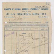 Sellos: FACTURA CON DOS SELLOS LOCALES DE PALMA DE MALLORCA, BALEARES. 1938. Lote 176221412