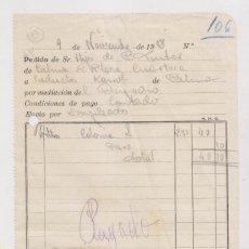 Sellos: FACTURA CON SELLO LOCAL. PALMA DE MALLORCA, BALEARES. 1938. Lote 176221719