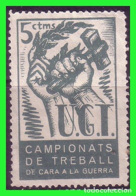 VIÑETA POLÍTICA, UGT 1937, GUILLAMON Nº 1979 (*) (Sellos - España - Guerra Civil - Viñetas - Nuevos)