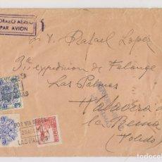 Sellos: SOBRE. LAS PALMAS, CANARIAS. 1937. CENSURA MILITAR. Lote 176303263