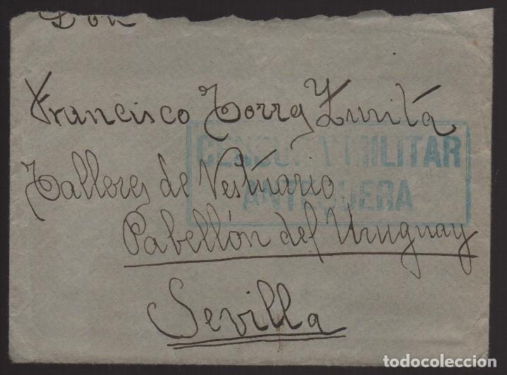 ANTEQUERA--MALAGA-- CARTA Y SOBRE A SEVILLA, C.M. ANTEQUERA- VER FOTOS (Sellos - España - Guerra Civil - De 1.936 a 1.939 - Usados)