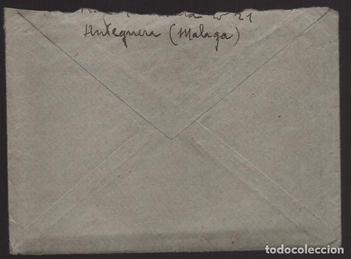 Sellos: ANTEQUERA--MALAGA-- CARTA Y SOBRE A SEVILLA, C.M. ANTEQUERA- VER FOTOS - Foto 3 - 176476574