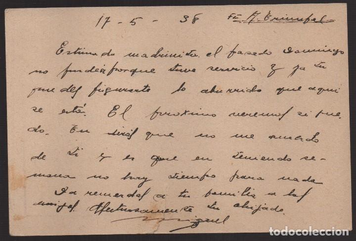 Sellos: ANTEQUERA--MALAGA-- POSTAL MILITAR, C.M. LEVE CORTE- VER FOTOS - Foto 2 - 176476832