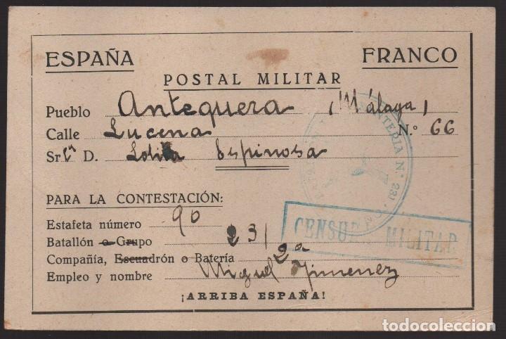 ANTEQUERA--MALAGA-- POSTAL MILITAR, C.M. - VER FOTOS (Sellos - España - Guerra Civil - De 1.936 a 1.939 - Usados)