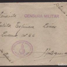 Sellos: SOBRE Y CARTA--ESTAFETA 95 -4 º REGIMIENTO ARTILLERIA , A ANTEQUERA, C.M. 5ª BATERIA-- O.10,5 VER. Lote 176478014
