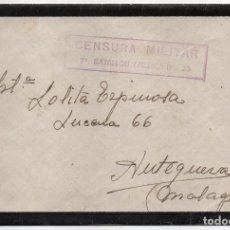 Sellos: SOBRE Y CARTA--ESTAFETA 19 - C.M. 7º BATALLON AMERICA Nº 23, A ANTEQUERA, VER FOTOS. Lote 176478383