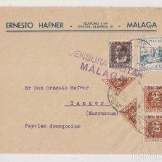 Sellos: SOBRE. MÁLAGA A MARRUECOS. LOCAL Y PATRIÓTICOS. 1937. DORSO LLEGADA. Lote 176606218