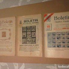 Sellos: BOLETIN DE GUERRA CIVIL DE SELLOS DE AÑOS 1937-38. Lote 177004613