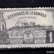 Sellos: HUÉRFANOS DE LA ARMADA CRUCERO BALEARES. Lote 177076335