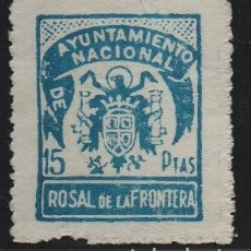 Sellos: ROSAL DE LA FRONTERA, 15 PTA--SELLO MUNICIPAL-- VER FOTO. Lote 177553084