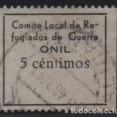 Sellos: ONIL. 5 CTS. --REFUGIADOS DE GUERRA-- VER FOTO. Lote 177554318