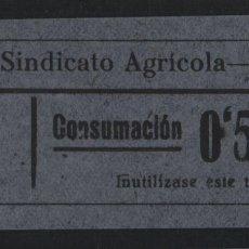 Sellos: LA RIERA. 50 CTS.-GRANDE -C.N.S. CENTRAL NACIONAL SINDICALISTA.- VER FOTO. Lote 177555002