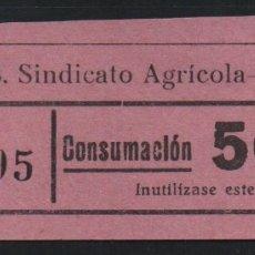Sellos: LA RIERA. 50 CTS -C.N.S. CENTRAL NACIONAL SINDICALISTA.- VER FOTO. Lote 177555262
