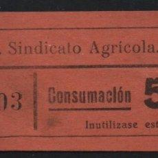 Sellos: LA RIERA. 50 CTS -C.N.S. CENTRAL NACIONAL SINDICALISTA.- VER FOTO. Lote 177555302