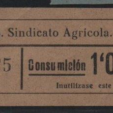 Sellos: LA RIERA. 1 PTA -C.N.S. CENTRAL NACIONAL SINDICALISTA.- VER FOTO. Lote 177555410