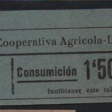 Sellos: LA RIERA. 1,50 PTA -C.N.S. CENTRAL NACIONAL SINDICALISTA.- VER FOTO. Lote 177555485