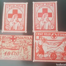 Sellos: GUERRA CIVIL 4 VIÑETAS CRUZ ROJA ESPAÑOLA. Lote 177636719