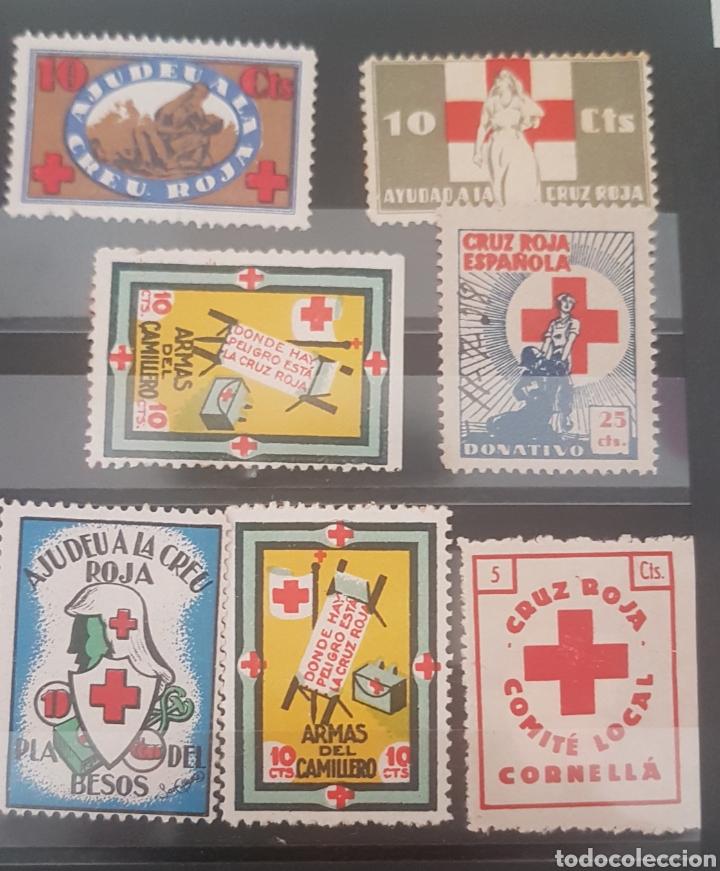 GUERRA CIVIL 7 VIÑETA CRUZ ROJA (Sellos - España - Guerra Civil - Viñetas - Nuevos)