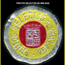 Sellos: VIÑETAS / ETIQUETA - FRUTOS SECOS DE MÁLAGA - REF785. Lote 177686995
