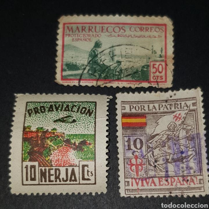 LOTE 3 SELLOS VIÑETA - RAROS SELLOS - LOCALES- GUERRA CIVIL ESPAÑOLA (Sellos - España - Guerra Civil - Viñetas - Usados)