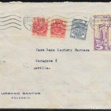 Sellos: 1937.- PALENCIA A SEVILLA.. Lote 177828598
