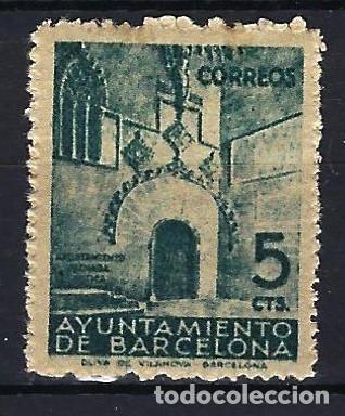 ESPAÑA BARCELONA - 1938 - PUERTA GÓTICA DEL AYUNTAMIENTO - EDIFIL 20 - MNH** NUEVO (Sellos - España - Guerra Civil - Locales - Nuevos)
