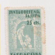 Sellos: DOS SELLOS RAROS. JUNTA DEFENSA TARRAGONA. . Lote 178067603