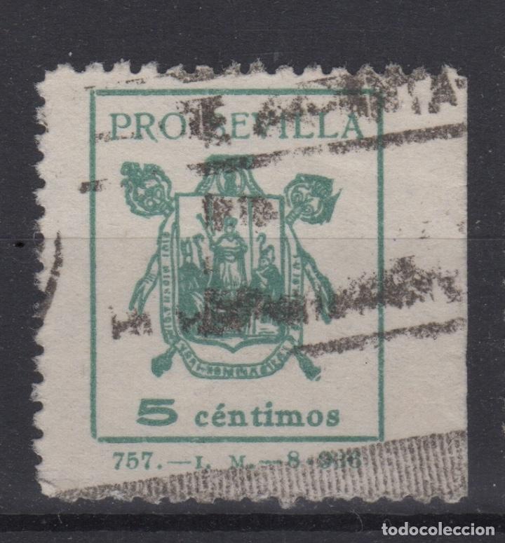 1936 PRO SEVILLA BENEFICO 5 CENTIMOS (Sellos - España - Guerra Civil - Locales - Usados)