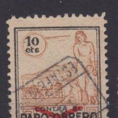 Sellos: 1938 LOGROÑO CONTRA EL PARO OBRERO 10 CTS. Lote 178173212